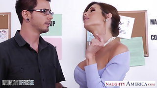 Stockinged Veronica Avluv fuck just about the office