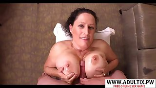 Fat mommy hot titjob
