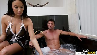 Appetizing huge breasted babe Anissa Kate gives BJ and enjoys some anal