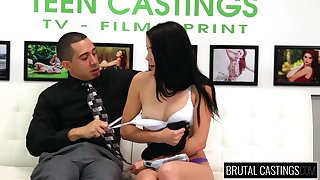 Lowering haired submissive Freulein Alaina Kristar is tied respecting increased by unworked fucked