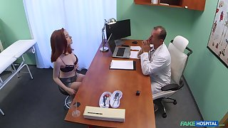 Horny Nela likes to have sexual intercourse with her powered doctor without mercy
