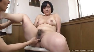 Japanese mature works young inches in both say no to hairy holes