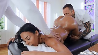Doggy anal at near massage for make an issue of interesting wife
