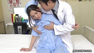 Naughty and hot Japanese nurse Anna Kimijima is into riding cock on top