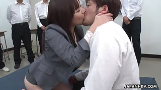 Naughty natural Japanese chick Asuka Kyono spreads trotters involving get puristic pussy banged