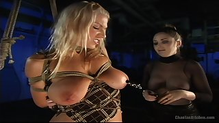 Lesbian BDSM plus a slave role is amazing experience for Xana Star