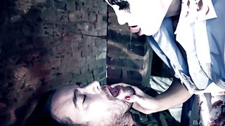 Hardcore pussy and asshole dilation for Julia De Lucia in uniform