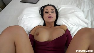 Shoot a load of vitamin D on Crystal Rush's alluring face after hot POV sex