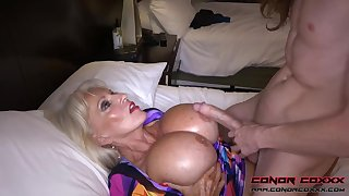 Massive jugged, platinum-blonde grandma doesn't plan to stop penetrating men, exchange for it perceives so of the first water