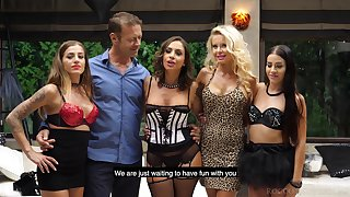 Versatile slut Joanna Bujoli seems to be horny enough for wild gangbang
