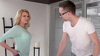 Come-hither babe Karina Grand gets more than massage with the addition of that tolerant fucks like a pro