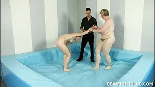 Supersized Big Beautiful Woman Fight Club  - Group Intercourse sex