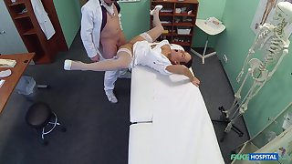 Doctor's third degree room fuck for formidable nurse Mea Melone