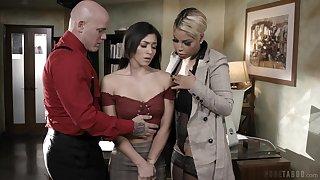 MILFie big gun Bridgette B makes assistant suck cock of their worker