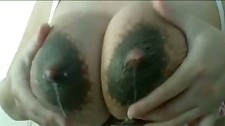 This slut loves to milk the brush own lactating breasts increased by the brush tits drives me crazy