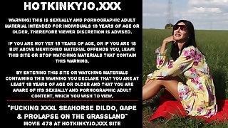 Hotkinkyjo fucking XXXL Seahorse dildo, gawk & prolapse