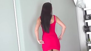 Amazing Brunette In the air The brush Admirable Casting Debut