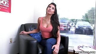 Massive inches for the hot casting chick in scenes of dishonest porn