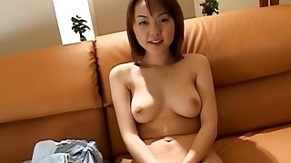 Innocent tits Japanese girl Ai Misaki moans while getting fucked