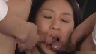 Schoolgirl Getting Her Pussy Together with Mouth Fucked By Schoolguys Facials Cums To
